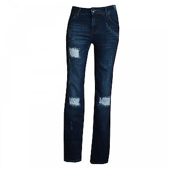 Oui Women's Scuff Detail Stretch Jeans