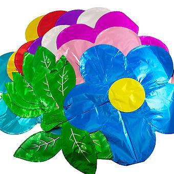 TRIXES 8PC Pack Blume Folie Ballons Multicolor Parteien Geburtstagsfeiern