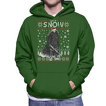 Let It Jon Snow Game Of Thrones Christmas Knit Men's Hooded Sweatshirt
