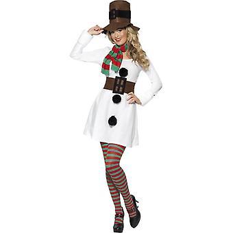 Miss Schneemann Kostüm, UK Kleid 8-10
