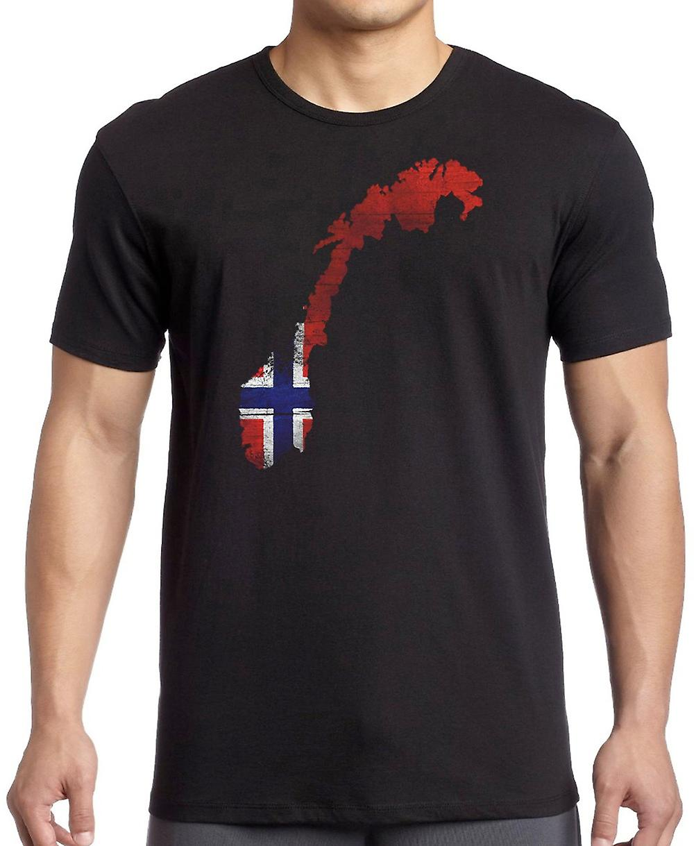 Norway Norwegian Flag Map T Shirt  - 5xl
