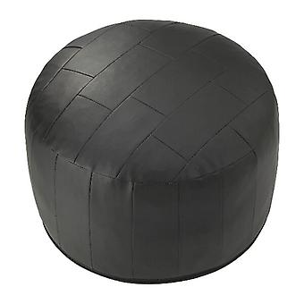 Seat cushion seat stool stool Ottoman faux leather patchwork black