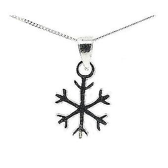 The Olivia Collectoin Sterling Silver Snowflake Pendant on 18 Inch Chain