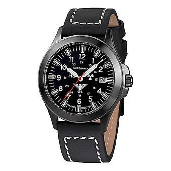 KHS watches mens watch black platoon titanium automatic KHS. BPTA. LBB