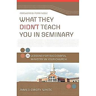 Vad de inte undervisar du i seminariet: 25 lektioner för framgångsrika ministeriet i din kyrka