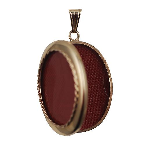 9ct Gold 35x26mm plain oval family Locket