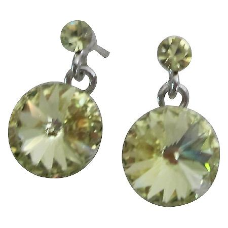 Matching Jewelry Lite Green Dress Peridot Post Earrings