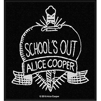 Alice Cooper School's Out b&w sew-on cloth patch   (ro)