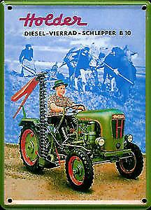 Holder Tractor metal postcard / mini-sign