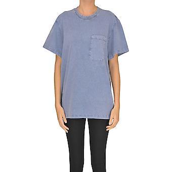 Stella Mccartney Blue Cotton T-shirt