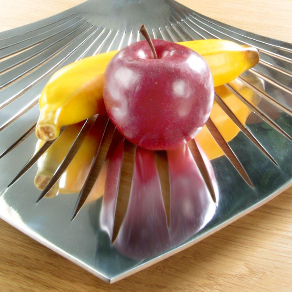 Metal Fruit Plate Appetizer Dish Modern Bright Silver Coloured Vase