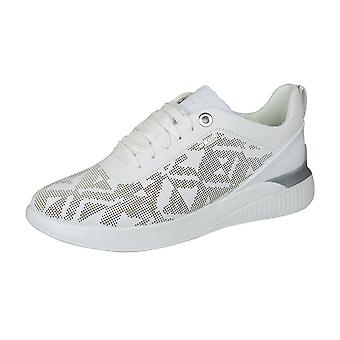 Geox D Theragon C Womens Nappa Leather Trainers / Shoes - White