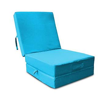 Water Resistant Fold Out Z Bed Cube - Turquoise