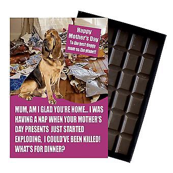 Bloodhound eigenaar hond minnaar Moederdag dag cadeau chocolade aanwezig voor mama nieuwigheid
