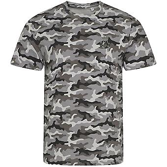 Somerset y Cornwall Light Infantry - Licencia British Army Embroidered Camouflage Print Camiseta