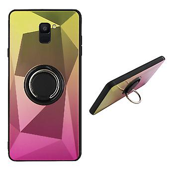 BackCover Ring / Magneet Aurora Samsung A6 2018  Goud+Roze