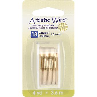 Artistic Wire Dispenser 4 Yards Pkg Brass 18 Gauge Awd18ntb