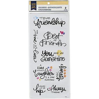 Little Yellow Bicycle Vellum Stickers-Friendship 22452