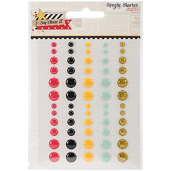 Say Cheese II Enamel Dots Embellishments 60/Pkg-5 Colors & 3 Sizes SAY4331