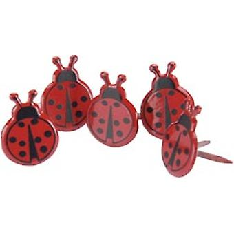 Broderie anglaise prise Brads coccinelle 12 Pkg Qbrd 655