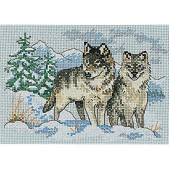 A Pair Of Wolves Mini Counted Cross Stitch Kit 7