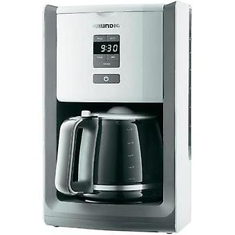 Coffee maker Grundig KM 7280w White, Light grey Cup volume=12 Display, Timer, Plate warmer