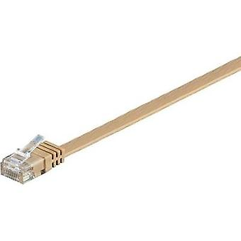 RJ49 Networks Cable CAT 6 U/UTP 0.5 m Light brown highly flexible Goobay