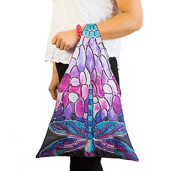 Tote bag motif Dragonfly Tiffany style