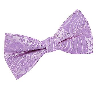 Paisley Lilac Bow Tie