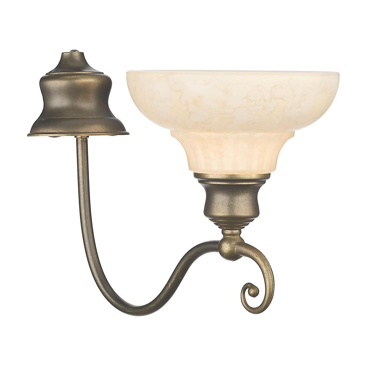 David Hunt ST111 Stratford Single Wall Bracket In An Aged Brass Finish With Glass