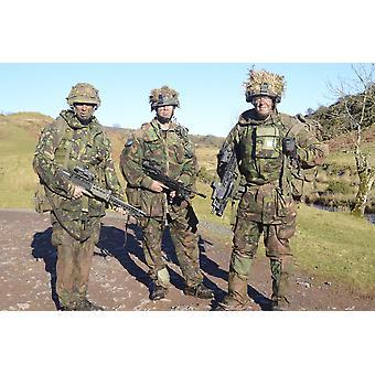 Welsh Guards platoon at Sennybridge Training Area Wales United Kingdom Poster Print