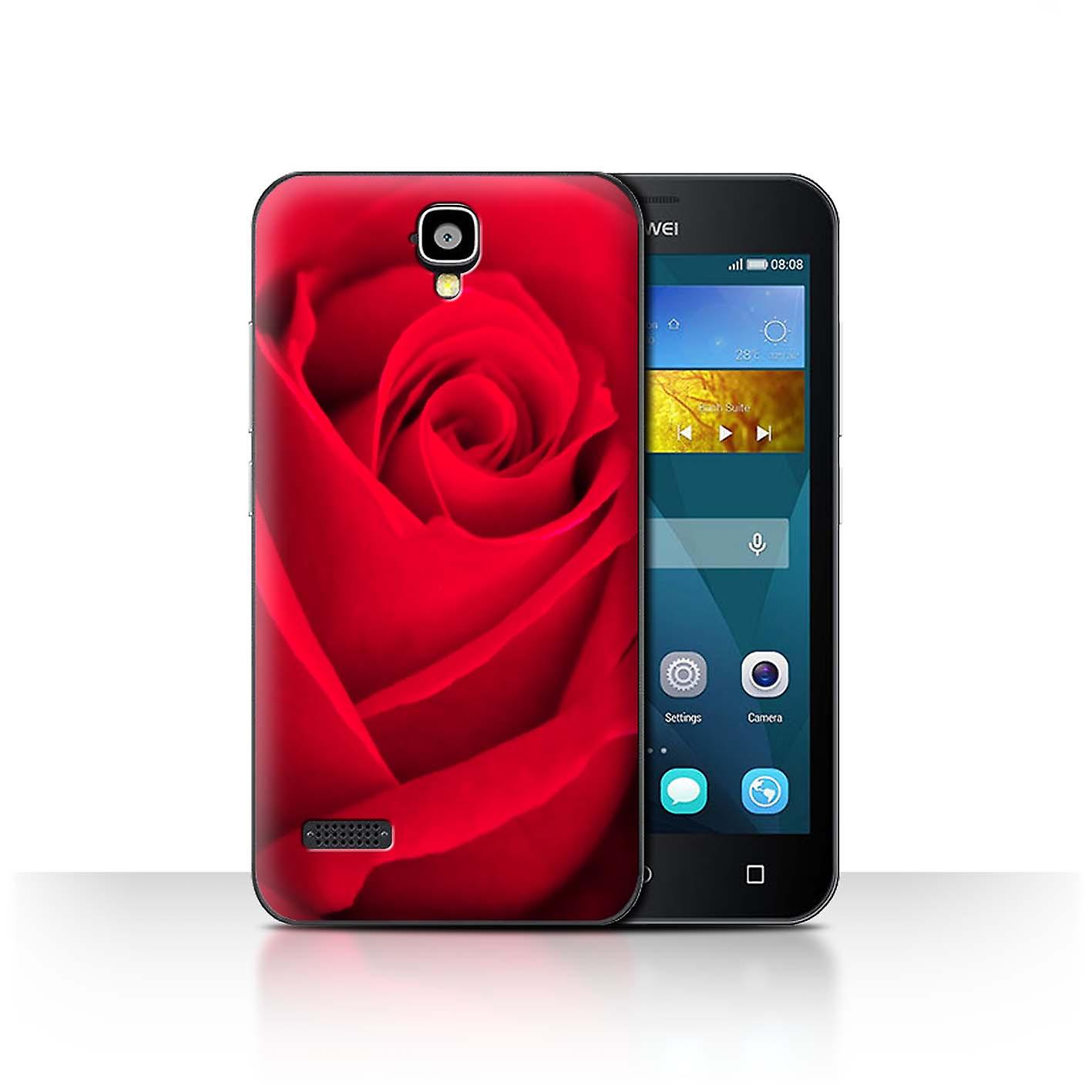 Stuff4 housse pour huawei y5 y560 jardin rose floral rouge for Housse huawei y5