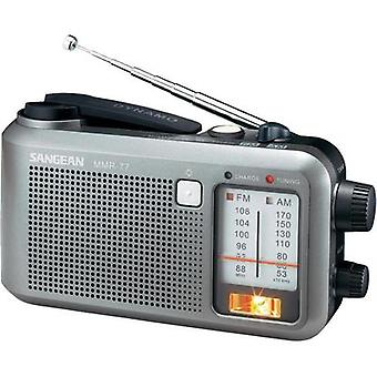 FM Outdoor radio Sangean MMR-77 AM, FM splashproof, Torch, rechargeable Grey