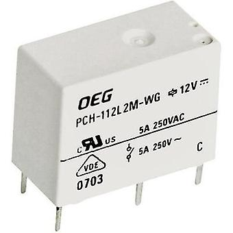 PCB relays 12 Vdc 5 A 1 change-over TE Connectivity PCH-112D2-WG 1 pc(s)