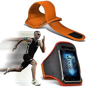 ONX3 BLU Grand Energie Fall (Orange) decken einstellbare Fitness laufen Joggen Radfahren Turnhalle Armband Halter
