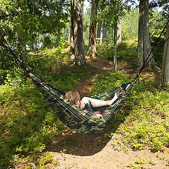 North East Harbor Portable 2 Person Hammock Rope Hanging Swing Camping - Camouflage / Camo
