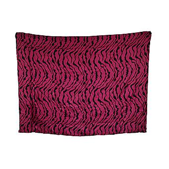 Hot Pink and Black Zebra Stripe Twin Size Comforter