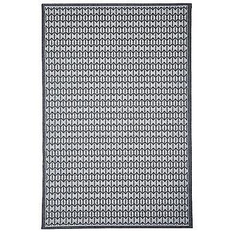 Moderne trækul grå geometrisk tæppe - Floorit