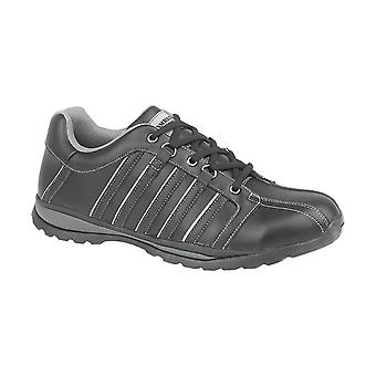 Amblers Steel FS50 Mens Safety Trainers Textile Mesh Leather Rubber Lace Up Shoe