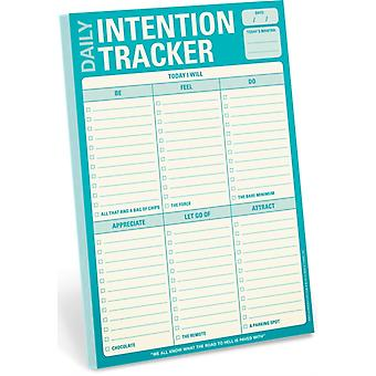 Knock Knock Daily Intention Tracker Pad (Knock Knock Pad) (Mass Market Paperback)