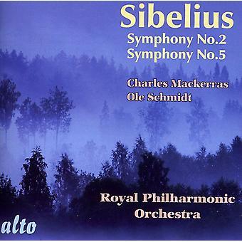 J. Sibelius - Sibelius: Importación sinfonías nos. 2 & 5 [CD] Estados Unidos