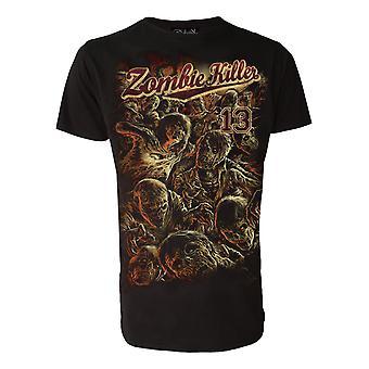 Zombie Killer 13 Red  Mens Tshirt