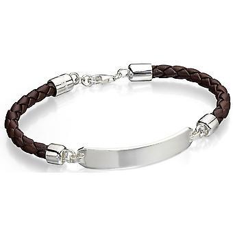 925 серебряные кожаный браслет