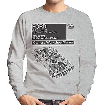 Haynes Workshop Manual Ford Capri 1600 OHC Black Men's Sweatshirt