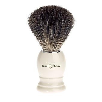 Edwin Jagger White Imitation Ivory Best Badger Shaving Brush 81P27