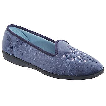 Sleepers Womens/Ladies Nieta Plain Embroidered Slippers