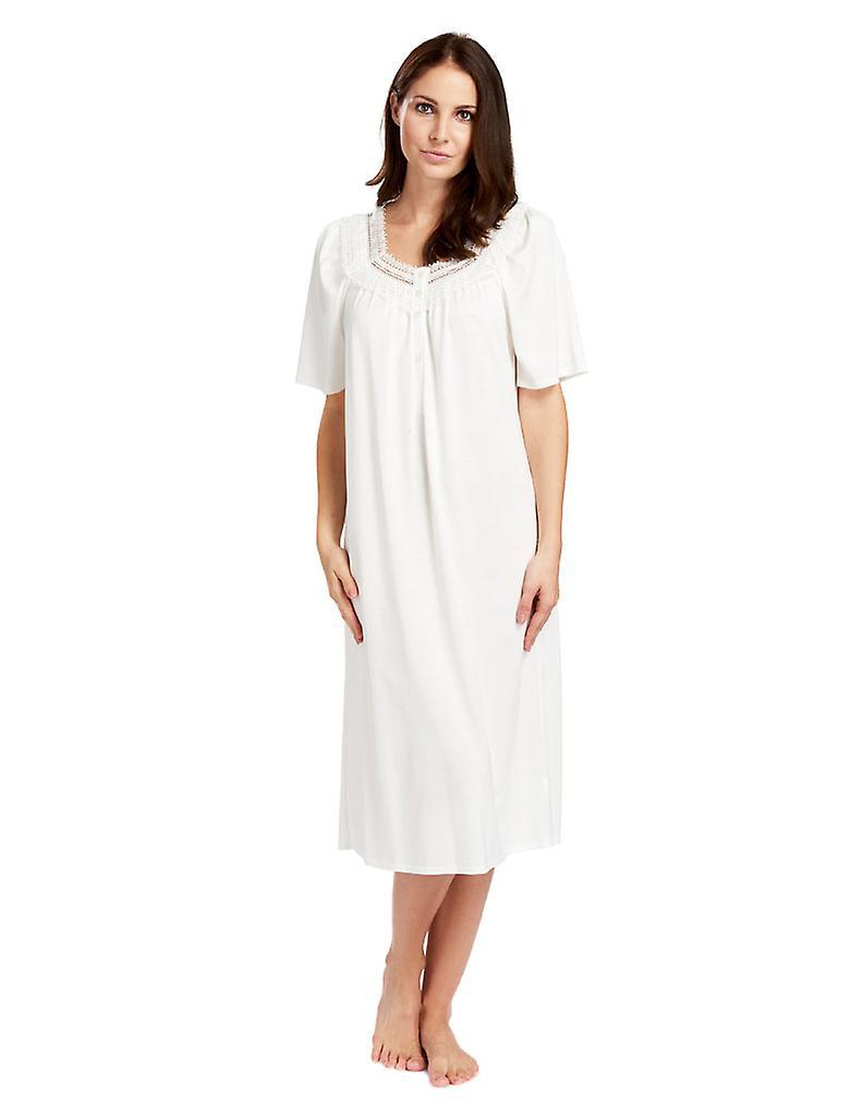 Nuit robe Pyjama chemise de nuit coton blanc Champagne Feraud 3883040-10044 féminine
