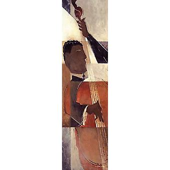 Abstrakta musik III affisch Skriv av Dee Dee (8 x 30)