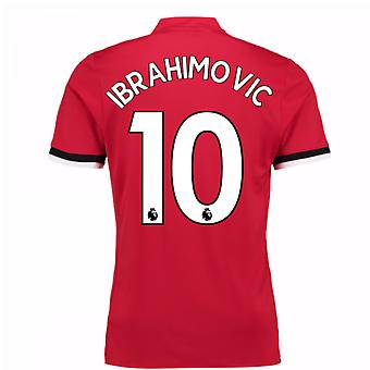 20Ibrahimovic 107-20Ibrahimovic 108 Man United Home Shirt (Ibrahimovic 10) - Kids