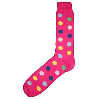 Bassin y Brown Spotted Midcalf calcetines - rosa/Multi-colour